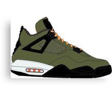 "Air Jordan IV (4) ""Undefeated"" Canvas Print"