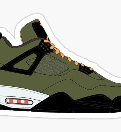 "Air Jordan IV (4) ""Undefeated"" Sticker"