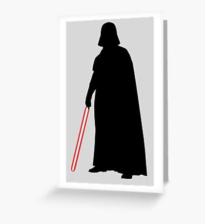 Star Wars Darth Vader Black Greeting Card