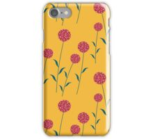 Red Cookie flowers iPhone Case/Skin