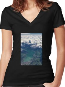 The North Face and Lake Thun Women's Fitted V-Neck T-Shirt
