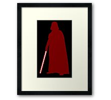 Star Wars Darth Vader Red Framed Print