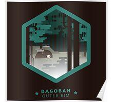 Dagobah - Outer Rim Emblem - Star Wars Poster