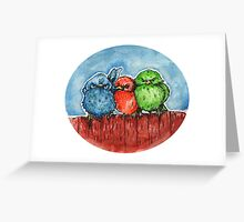 Angry birds Greeting Card