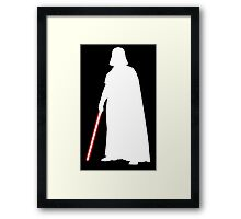 Star Wars Darth Vader White Framed Print