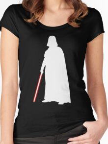 Star Wars Darth Vader White Women's Fitted Scoop T-Shirt