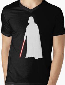 Star Wars Darth Vader White Mens V-Neck T-Shirt