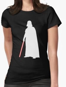 Star Wars Darth Vader White Womens Fitted T-Shirt