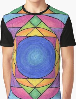Stained Glass Mandala Graphic T-Shirt