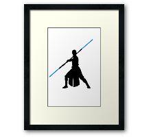 Star Wars - Rey lightsaber Framed Print