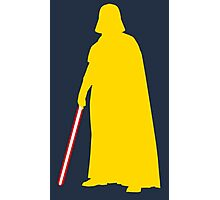 Star Wars Darth Vader Yellow Photographic Print