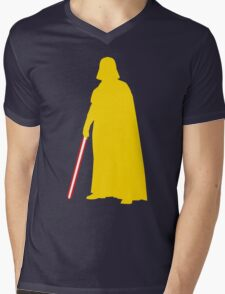 Star Wars Darth Vader Yellow Mens V-Neck T-Shirt