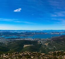 Hobart, Tasmania Panorama from Mt Wellington by Odille Esmonde-Morgan