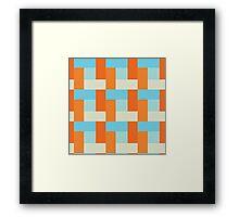 Koi Pond Block Pattern Framed Print