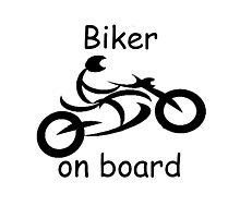 Biker on board 5 Photographic Print