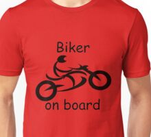 Biker on board 5 Unisex T-Shirt