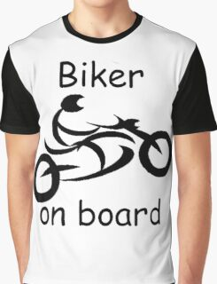 Biker on board 5 Graphic T-Shirt
