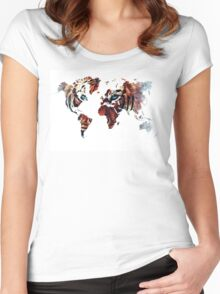World Map 2067 Women's Fitted Scoop T-Shirt