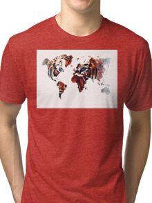 World Map 2067 Tri-blend T-Shirt