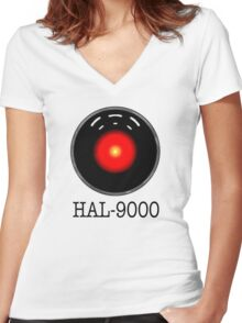 HAL- 9000 Women's Fitted V-Neck T-Shirt