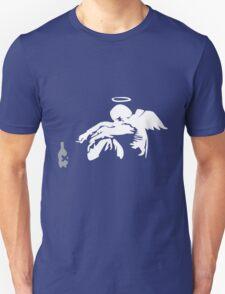 Banksy Fallen Angel funny nerd geek geeky T-Shirt