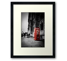 Iconic London Telephone box Framed Print