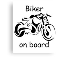 Biker on board 4 Canvas Print