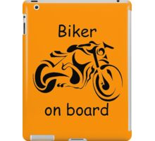 Biker on board 4 iPad Case/Skin
