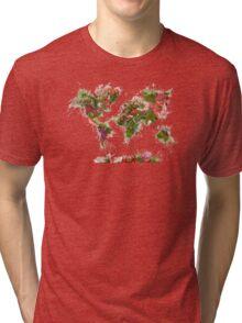 World Map 2049 Tri-blend T-Shirt
