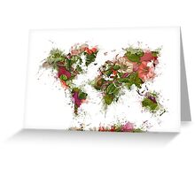 World Map 2049 Greeting Card