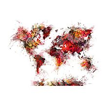World Map 2046 Photographic Print