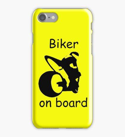 Biker on board 3 iPhone Case/Skin