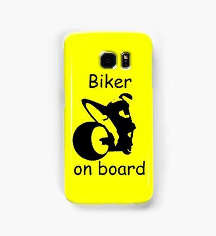 Biker on board 3 Samsung Galaxy Case/Skin