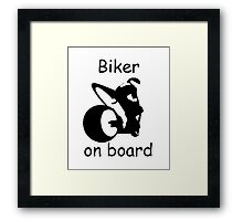 Biker on board 3 Framed Print
