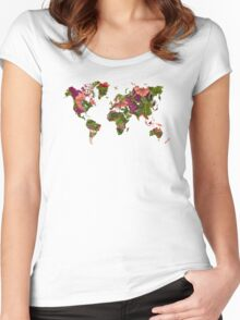 World Map 2059 Women's Fitted Scoop T-Shirt