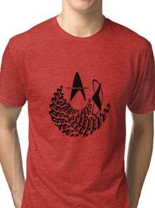Not Long Until I Reach Warp Speed - Star Trek Parody Logo Design with Transparent Background Tri-blend T-Shirt