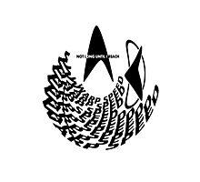Not Long Until I Reach Warp Speed - Star Trek Parody Logo Design with Transparent Background Photographic Print