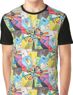 Abstract Tunnel Graphic T-Shirt
