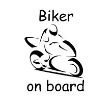 Biker on board 2 Photographic Print