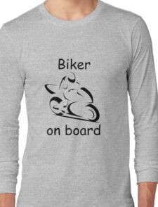 Biker on board 2 Long Sleeve T-Shirt