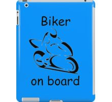 Biker on board 2 iPad Case/Skin
