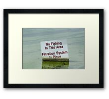 Filtration System in Place Framed Print