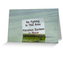 Filtration System in Place Greeting Card