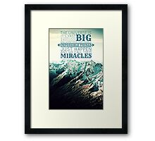 Whovian Mountains Framed Print