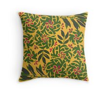 Tropical floral pattern Throw Pillow