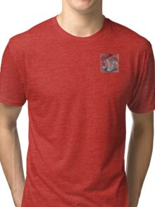 Amanita Spotted White Red Mushrooms Beware ~ Kirsten Don't Go There ! Tri-blend T-Shirt