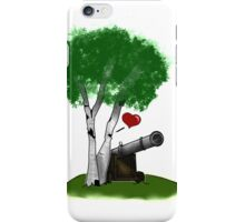"""Birches love cannons"" no text iPhone Case/Skin"
