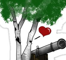 """Birches love cannons"" no text Sticker"