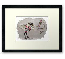 Bird with Coffee Framed Print