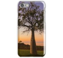sunrise baobab tree iPhone Case/Skin